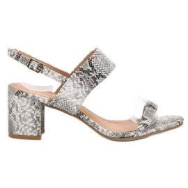 Ideal Shoes harmaa Muodikkaat naisten sandaalit