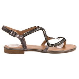 Small Swan Japanilaiset sandaalit harmaa