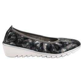 Filippo sininen Navy nahka baletti kengät