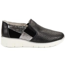 Filippo Musta kengät Slip On