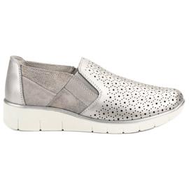 Filippo harmaa Silver Slip On kengät