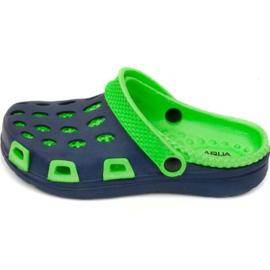 Aqua-speed tossut Silvi Jr col 48 vihreä laivasto sininen