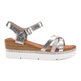Seastar harmaa Muodikkaita sandaaleja zirkoneilla