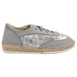 Kengät, joissa on VICES-jäljet harmaa