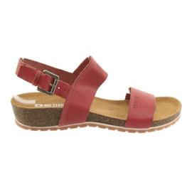 Big Star punainen Red Big naisten sandaalit 274A016