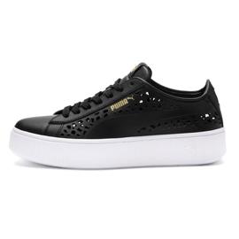Musta Puma Vikky pinottu Laser Cut 369378 01 kengät