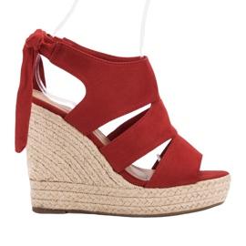 Cm Paris punainen Punaiset sandaalit kiilassa