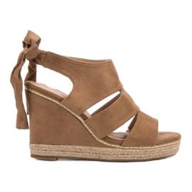 Anesia Paris ruskea Weddered sandaalit