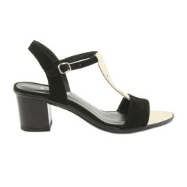 Sandaalit naisille Anabelle 1447 musta / kulta