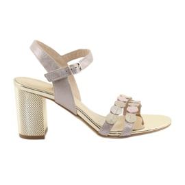 Naisten kengät hopeiset vaaleanpunaiset Gamis 3658