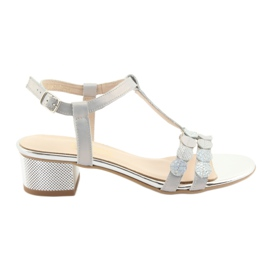 Naisten sandaalit raidat Gamis 3661 harmaa helmi