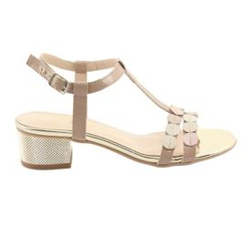 Naisten sandaalit raidat Gamis 3661 beige