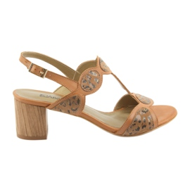 Naisten sandaalit toffee / panther Anabelle 1352 ruskea