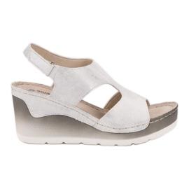 Goodin valkoinen Mukavat Wedge-sandaalit