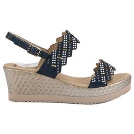 Aclys sininen Kevyt sandaalit kiilassa