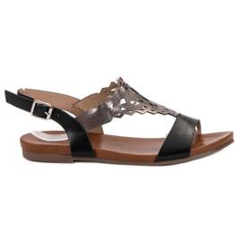 Kylie musta Tyylikäs sandaalit