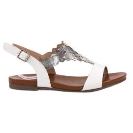 Kylie valkoinen Tyylikäs sandaalit