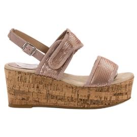 Kylie pinkki Sandaalit tarralla