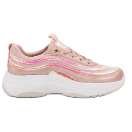 SHELOVET Sneakers On Platform pinkki
