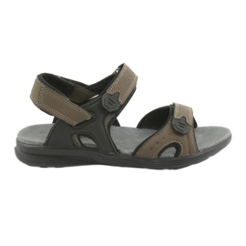 American Club American Youth Sports Sandals HL09 musta / khaki