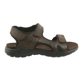 American Club Amerikkalainen nahka-urheilu sandaalit CY11 ruskea