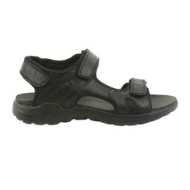 American Club Amerikkalainen nahka-urheilu sandaalit CY11 musta