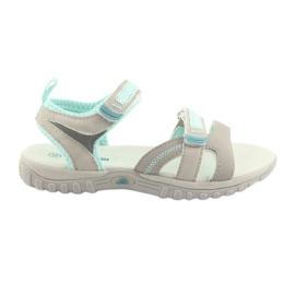 Tytön sandaalit American Club HL14 harmaa / minttu