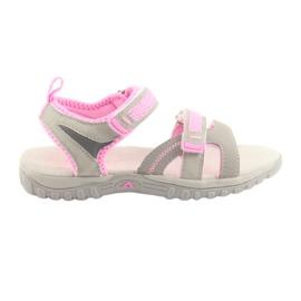 Tytön sandaalit American Club harmaa / vaaleanpunainen