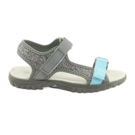 Sandaalit nahkaverhoilla American Club RL10 harmaa / sininen