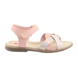 Sandaalit metallitytöt American Club GC23 pinkki