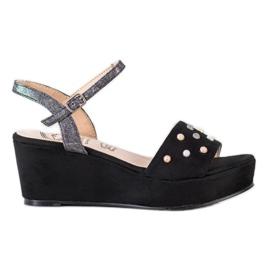 Aclys musta Rento kiila sandaalit