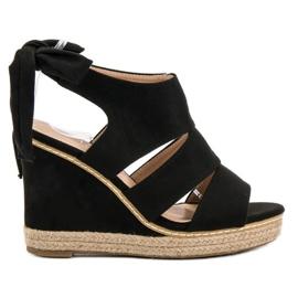 Anesia Paris musta Weddered sandaalit