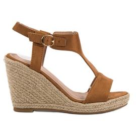 Anesia Paris ruskea Muodikkaat kiilat sandaalit