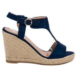 Anesia Paris sininen Muodikkaat kiilat sandaalit
