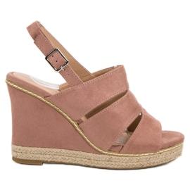 Primavera pinkki Jauhaiset sandaalit