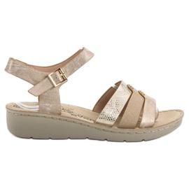 Evento Kultaiset sandaalit keltainen