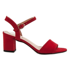 Evento punainen Sandaalit baarissa