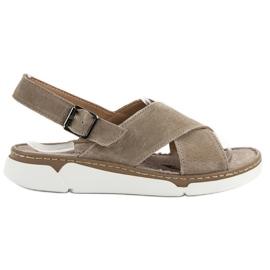 Filippo ruskea Nahkaiset sandaalit alustalla