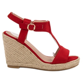 Anesia Paris punainen Muodikkaat kiilat sandaalit