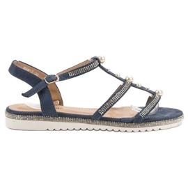 GUAPISSIMA Sandaalit helmillä sininen