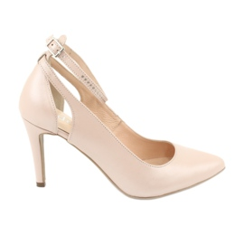 Ruskea Naisten kengät Edeo 3212 beige helmi