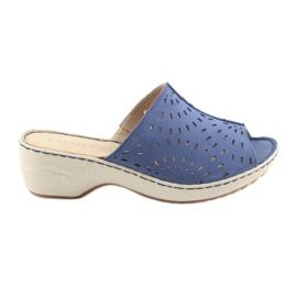 Naisten tossut koturno Caprice 27351 farkut sininen