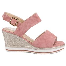 SHELOVET pinkki Vaaleanpunaiset sandaalit