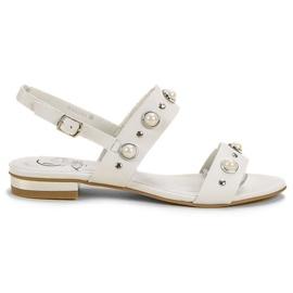 Kylie valkoinen Mukavat tasaiset sandaalit