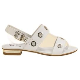 Kylie valkoinen Rento valkoiset sandaalit