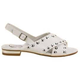 Kylie valkoinen Valkoiset sandaalit, joissa on solki