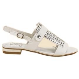 Kylie valkoinen Valkoiset naisten sandaalit