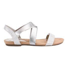 Evento harmaa Slip-on sandaalit joustavalla nauhalla