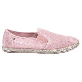 Balada pinkki Shiny Sneakers Slip On