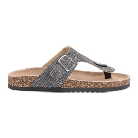 Evento harmaa Muodikas flip-flops